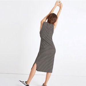 Madewell Dresses - Madewell Striped Ribbed Mockneck Midi Dress